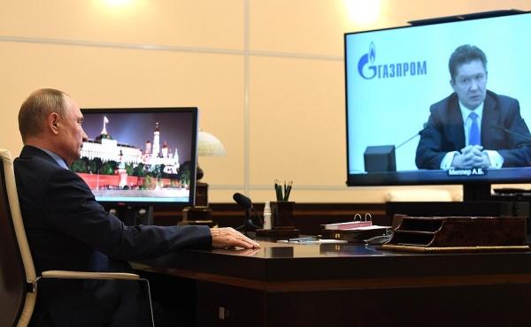 Владимир Путин Алексей Миллер(2021)|Фото: пресс-служба Кремля / Kremlin.ru