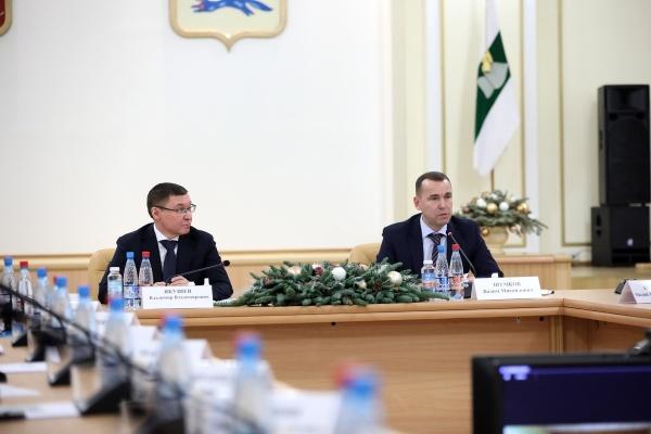 Владимир Якушев, Вадим Шумков(2021)|Фото: Администрация Курганской области