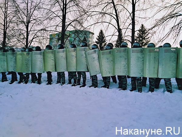 Несанкционированный митинг 23 января в Екатеринбурге(2021)|Фото: Накануне.RU