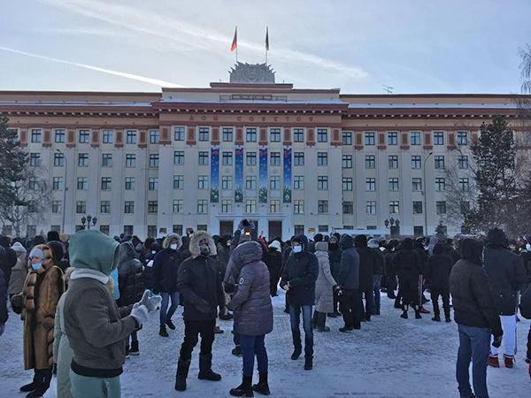 Несанкционированный митинг 23 января в Тюмени(2021) Фото: t.me/teamnavalny_tmn