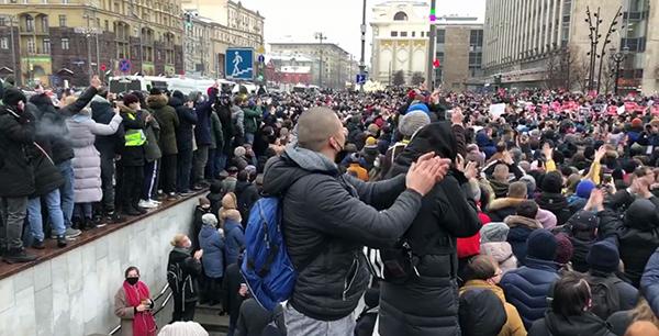 Несанкционированный митинг 23 января в Москве(2021)|Фото: t.me/teamnavalny_mos
