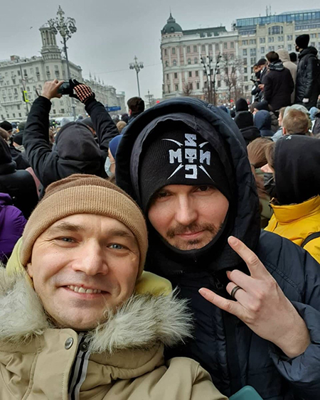 Влади и Noize MC на митинге 23 января в Москве(2021) Фото: t.me/teamnavalny