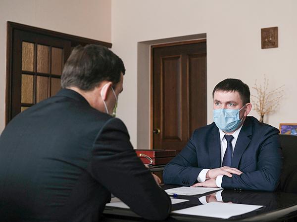 Евгений Куйвашев, Алексей Шмыков(2021)|Фото: Департамент информационной политики Свердловской области