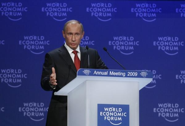 Владимир Путин в Давосе, 2009 год(2021)|Фото: blogs.reuters.com