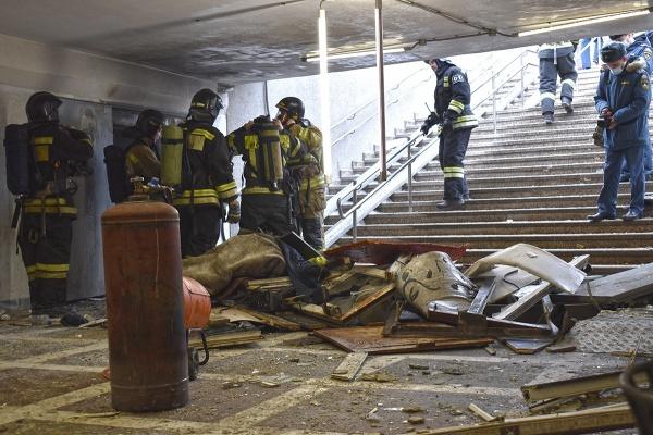 взрыв газового баллона, подземный переход, площадь Революции,(2021)|Фото: vk.com/chelmchs