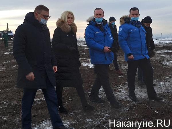 Алексей Текслер, Виктория Абрамченко на городской свалке в Челябинске(2021)|Фото: Накануне.RU