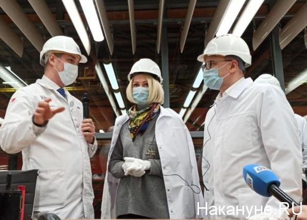 Виктория Абрамченко, Алексей Текслер, чтпз(2021) Фото: Накануне.RU