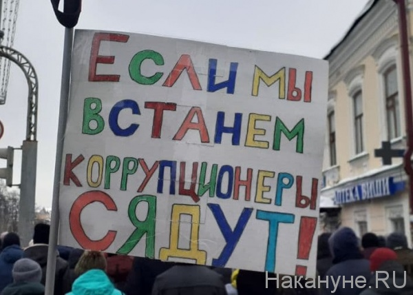плакат, протест, митинг, коррупция(2021)|Фото: Накануне.RU