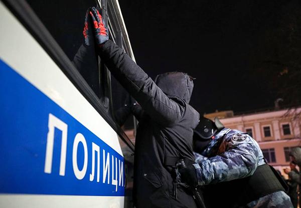 Акция протеста 2 февраля в Москве(2021)|Фото: ТАСС / Терещенко Михаил