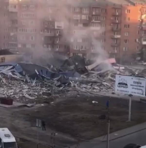 Взрыв в магазине во Владикавказе 12.02.21(2021)|Фото: Telegram-канал 112