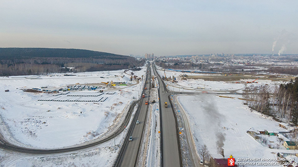 Строительство ЕКАДа(2021) Фото: Департамент информационной политики Свердловской области