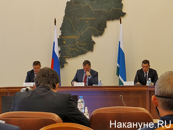 Марат Хуснуллин, Владимир Якушев, Евгений Куйвашев(2021) Фото: Накануне.RU