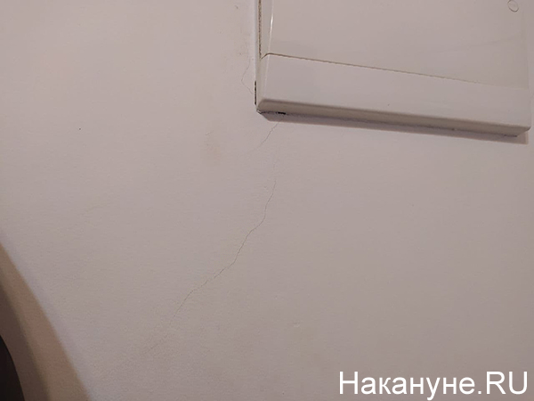 Трещины в доме на ул. Красноармейская, 78а(2021)|Фото: Накануне.RU