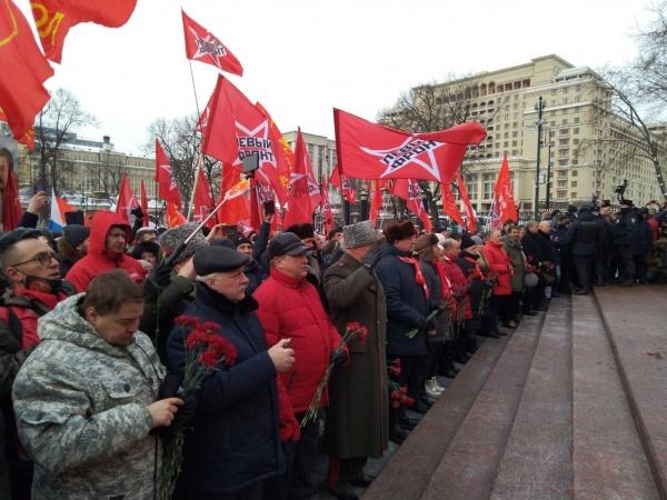 возложение цветов в День защитника Отечества, 23 февраля(2021)|Фото: facebook.com/ Сергей Удальцов
