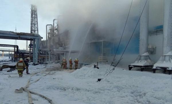 Пожар, месторождение Юбилейное(2021) Фото: 89.mchs.gov.ru