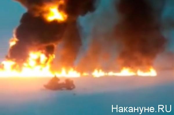Обь горит, нефтепровод(2021) Фото: Накануне.RU