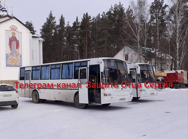 Автобусы в Среднеуральском женском монастыре(2021)|Фото: t.me/protectsergii