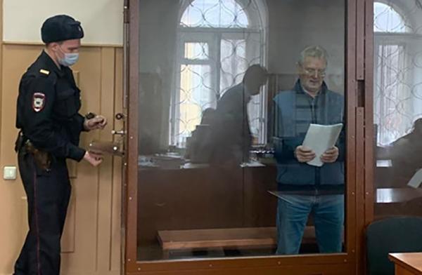 Иван Белозерцев в суде(2021)|Фото: пресс-служба Басманного суда Москвы