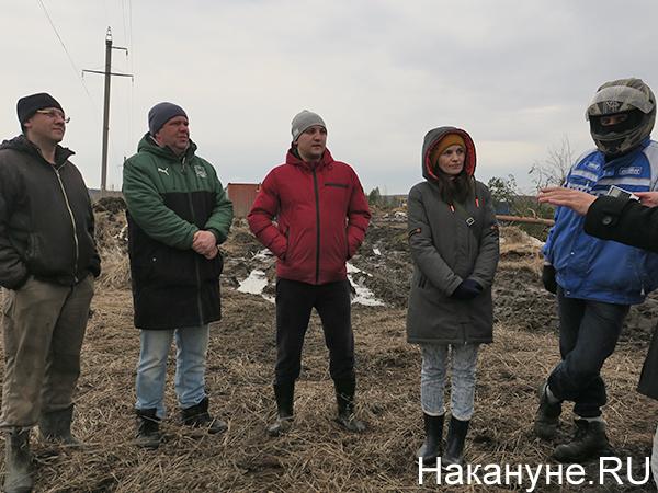 Местные жители, выступающие против вырубки леса под стройку логопарка в Калининском микрорайоне Екатеринбурга(2021) Фото: Накануне.RU