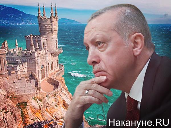 Коллаж, Реджеп Эрдоган, Крым(2021)|Фото: Накануне.RU