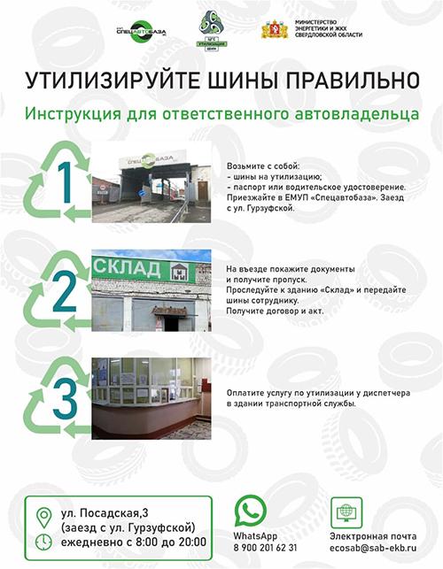 """Инфографика, утилизация шин(2021) Фото: ЕМУП """"Спецавтобаза"""""""