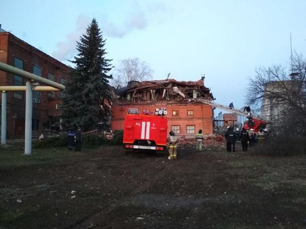 обрушение здания на территории ТЭЦ в Тамбове(2021)|Фото: 68.mchs.gov.ru