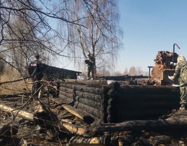 Пожар в частном доме, Верх-Пещерка(2021)|Фото: СУ СКР по Пермскому краю