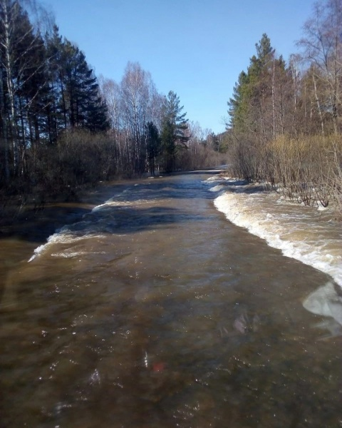 разлив реки, дорогу затопило,(2021) Фото: нацпарк Зигальга