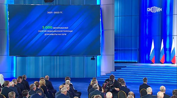 Послание президента РФ Владимира Путина Федеральному Собранию(2021)|Фото: youtube.com