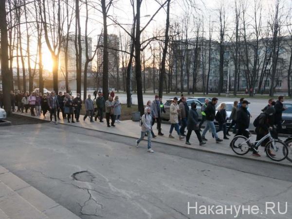 Шествие в поддержку Навального, Екатеринбург(2021)|Фото: Накануне.RU