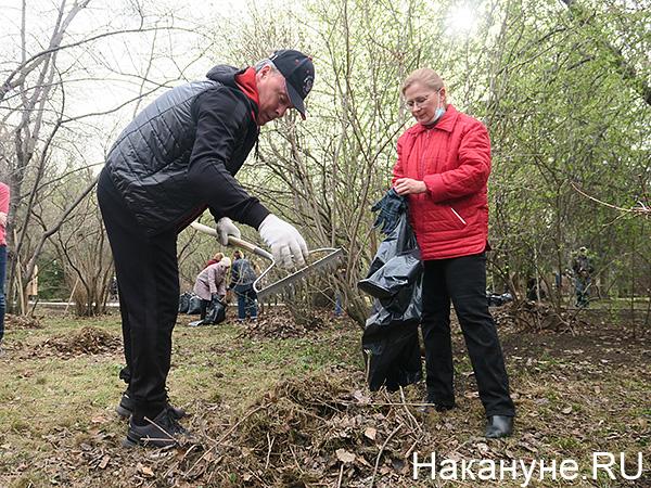 Субботник в Дендропарке, Алексей Орлов(2021)|Фото: Накануне.RU