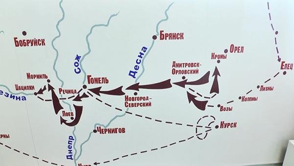 Схема наступления 175-й дивизии НКВД на Запад(2021)|Фото: пресс-служба УФСБ по Свердловской области