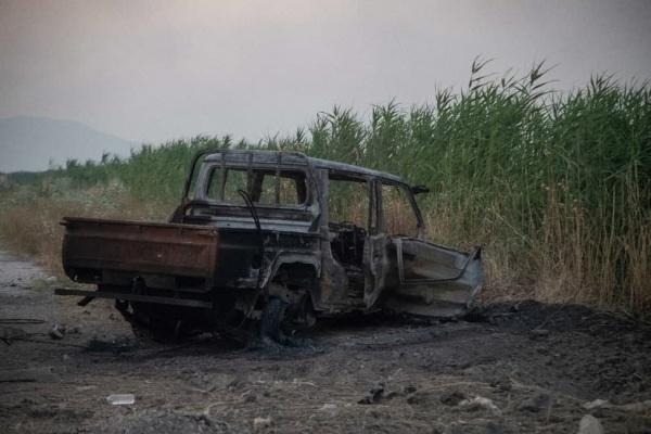 атака боевиков, сирия, терроризм, война, сгоревший автомобиль(2021)|Фото: РИА ФАН