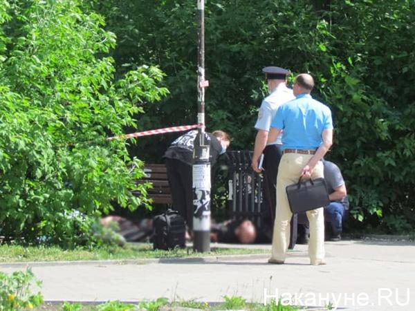 Нападение в сквере имени Джавахарлала Неру в Екатеринбурге(2021) Фото: Накануне.RU