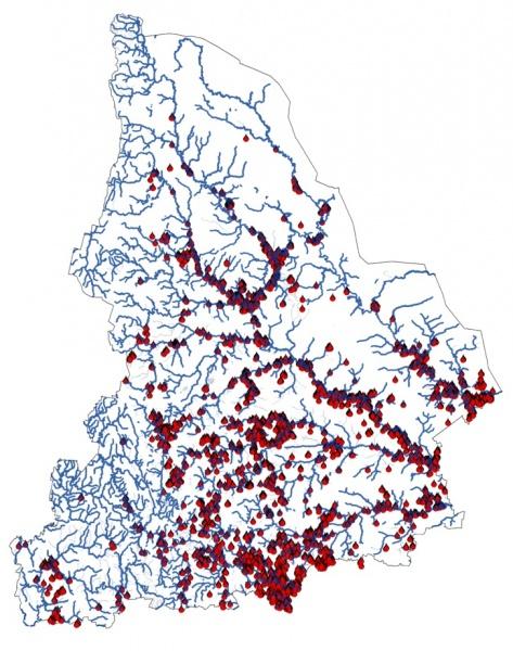 Места весенних пожаров в 2010 -18 гг. чётко привязаны к берегам рек(2021)|Фото: sdelano.media