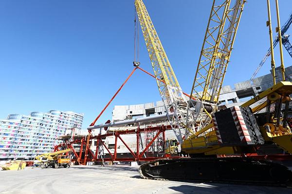 Строительство Ледовой Арены в Екатеринбурге(2021)|Фото: пресс-служба УГМК