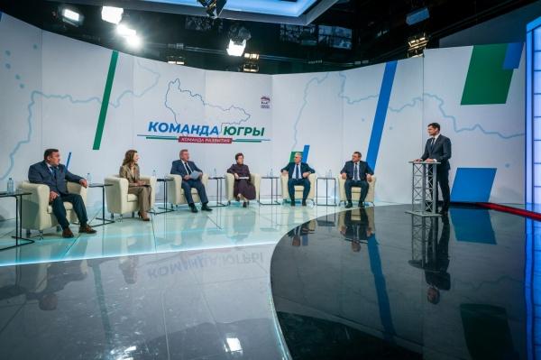 Встреча с победителями предварительного голосования, Ханты-Мансийск(2021) Фото: Департамент общественных и внешних связей Югры