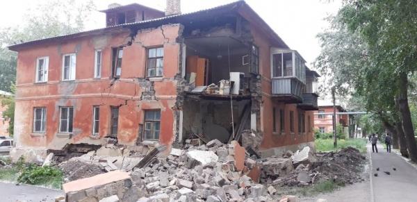 обрушение, стена, дом,(2021) Фото: администрация Челябинска