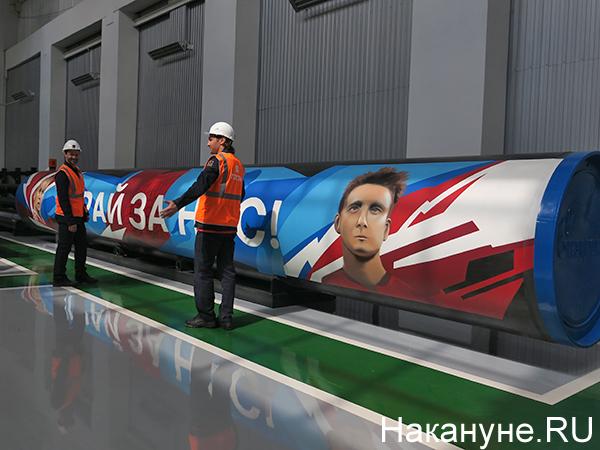 Дмитрий Сычев, Дмитрий Сенников на Синарском трубном заводе(2021)|Фото: Накануне.RU