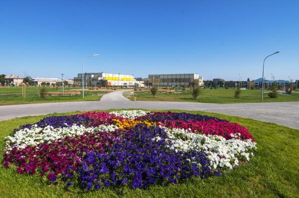 сквер, цветы, благоустройство, озеленение, угмк, клумба(2021) Фото: пресс-служба УГМК