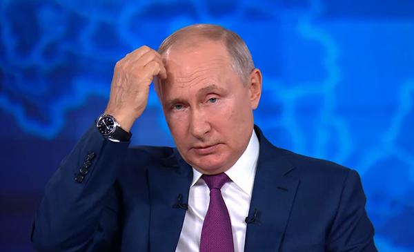Прямая линия с президентом РФ Владимиром Путиным(2021) Фото: RT