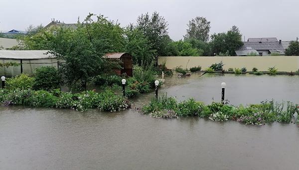 В с.Николо-Павловском из-за обильных дождей произошло подтопление приусадебных участков(2021) Фото: ГУ МЧС России по Свердловской области