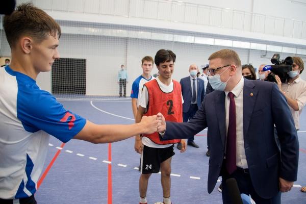 Алексей Текслер, спорткомплекс Динамо,(2021)|Фото: пресс-служба губернатора Челябинской области