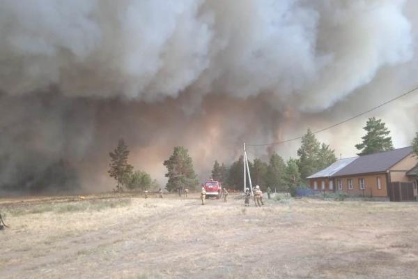 лесной пожар в Карталинском районе(2021) Фото: пресс-центр ГУ МЧС по Челябинской области