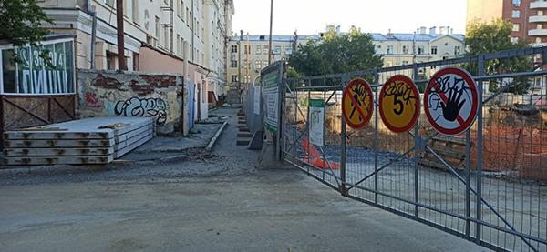 Проезд для пожарной машины у дома на ул. Красноармейской №78а(2021)|Фото: Елена Литвинова