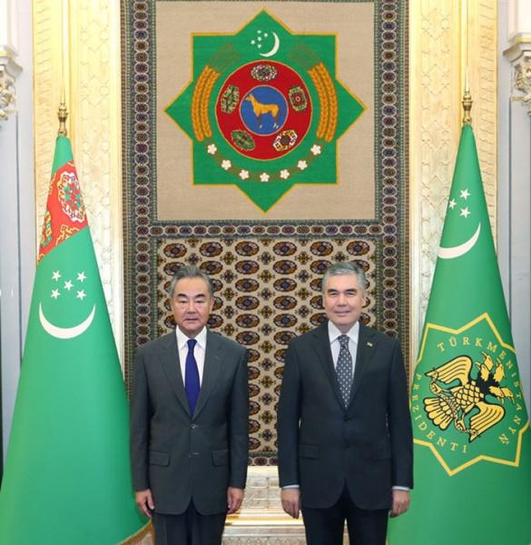 Встреча министра иностранных дел КНР Ван И с президентом Туркменистана Гурбангулы Бердымухамедовым(2021) Фото: people.com.cn
