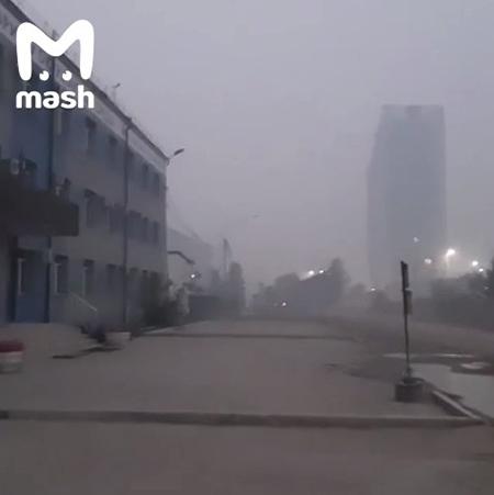 Смог в Якутске(2021)|Фото: Telegram / Mash