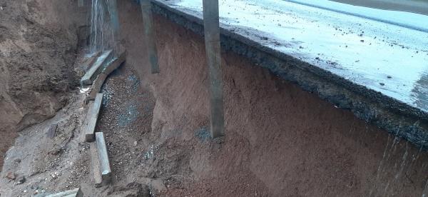Красавинский мост размыло дождем(2021)|Фото: vk.com/podslushanoperm