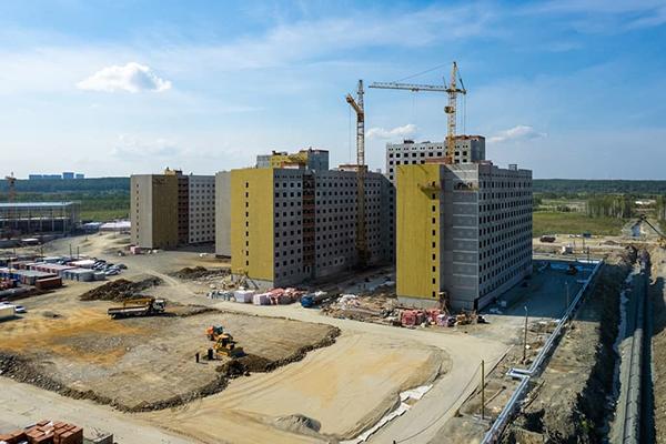 Объекты деревни Универсиады в Екатеринбурге(2021)|Фото: пресс-центр Группы Синара