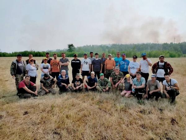 волонтеры на пожарах в Башкирии(2021)|Фото: t.me/kushtay